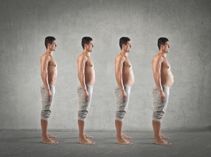 Почему растет живот у мужчин