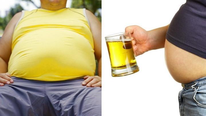 у мужчины пивной живот