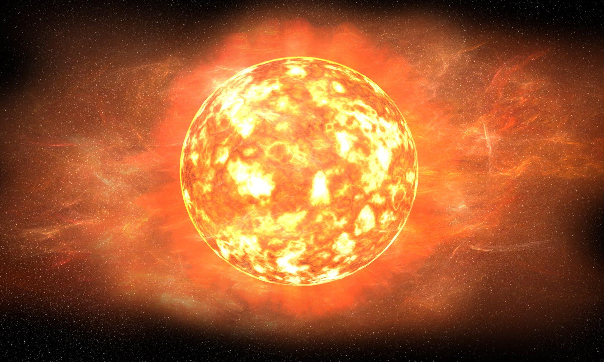 red giant sun - HD5000×3000